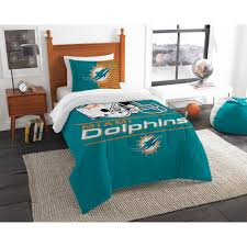 dolphins 3 piece draft multi twin comforter set