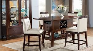 beautiful counter height kitchen table and chairs julian place chocolate vanilla 5 pc counter height dining