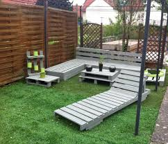 Pallet Furniture Pictures Diy Grey Painted Pallet Terrace Furniture