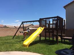 homemade playset from instructables