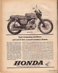 vintage honda motorcycle ads. 1963 honda print advertisement vintageadvertising vintage motorcycle ads