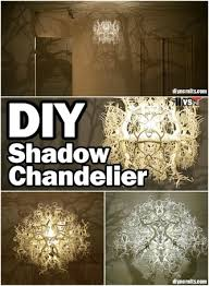 amazing diy shadow chandelier inspired by nature diy crafts