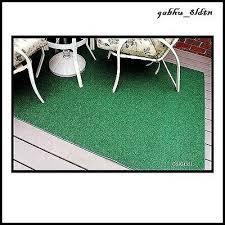 indoor outdoor green artificial grass turf area rug 8 x12 decks yards