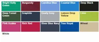 Port Authority Color Chart K100 Classic Core Uniform Polo Shirts