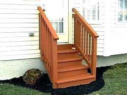 full size of outdoor wooden stairs wood steps how to build exterior pictures with landing magnificent