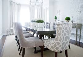 rooms gray velvet dining chairs