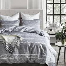simple gray white stripe pattern 2 home textile flower series bed linens bedding sets bed set duvet cover set pillowcase duvet covers clearance comforter