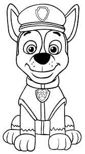 Paw Patrol Chase Coloring Pages Natalie Birthday Party Paw
