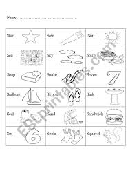 Cut the words out and put them in the correct gaps in the sentences. Phonics Letter S Esl Worksheet By Miss Moor