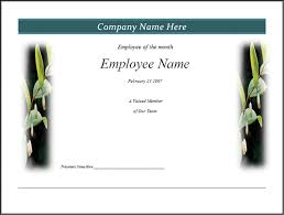Employee Of The Month Template With Photo 28 Images Of Free Employee Month Certificate Template Bfegy Com