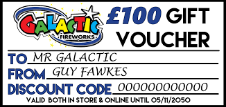 Personalised Gift Vouchers Templates 100 Personalised Gift Voucher Galactic Fireworks
