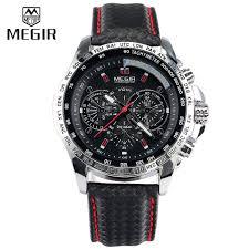 aliexpress com buy watches men luxury brand megir 1010 clock watches men luxury brand megir 1010 clock orologio uomo marca famosa relogio montre relojes hombre 2015