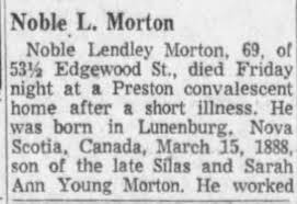 Obituary for Noble Lendley Morton (Aged 69) - Newspapers.com