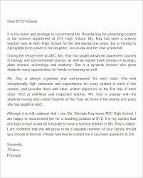 Letter Of Recommendation Template Teacher Teaching Letter Of Recommendation Template Elegant 19 Letter