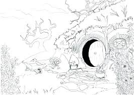 Hobbit Hole Coloring Pages Archives My Localdea