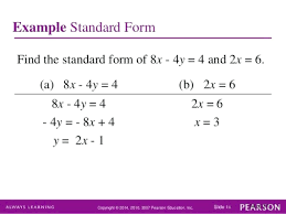 standard form equation standard form of a line equation chapter 1 linear equations and straight lines standard form equation