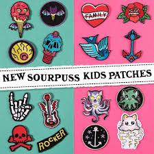 Tattoo Flash Kids Lil Punker Patch Set By Sourpuss