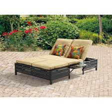 mainstays double chaise lounger tan seats   walmartcom