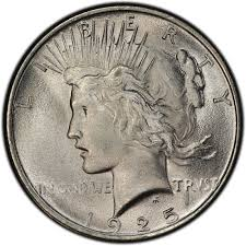 1925 Peace Dollar Values And Prices Past Sales