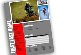 Motocross Resume Templates