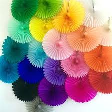 diy paper fans paper fans hand fan for wedding decoration crafts birthday party kid making round paper fans