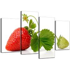 display gallery item 5 four panel set of living room red canvas picture display gallery item 6 on kitchen canvas wall art uk with canvas wall art of strawberry in red for your kitchen