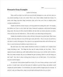 Persuasive Essays Examples Essay Examples Informative