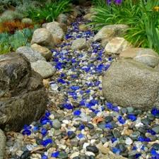 best tumbled glass images on color blue crafts and with landscape mulch landscaping rocks