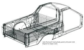 plymouth scamp and dodge rampage sporty economy car based pickups plymouth scamp body cad diagram