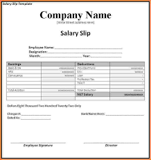 Payment Slip Format In Word