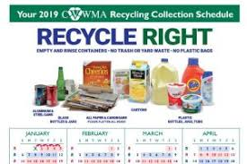 Things To Recycle What To Recycle Cvwma