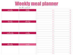 weekly meal planning for two printable weekly meal planners free live craft eat