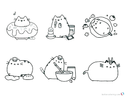 Pusheen Cat Coloring Pages Printable To Print Christmas Playing