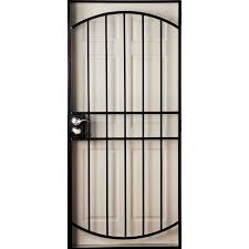 security doors at lowes. Beautiful Security Gatehouse Gibraltar Black Steel Security Door Common 36in X 81in With Doors At Lowes