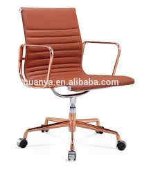 quanya rose gold metal office chair executive chair style leather