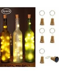wine bottle lighting. LED Wine Bottle Lights Cork Solar Powered 6 Pack 10 Copper Wire Starry String Lighting