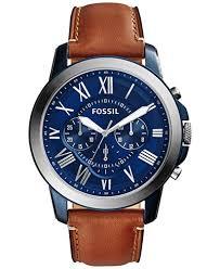 fossil men s chronograph grant light brown leather strap watch fossil men s chronograph grant light brown leather strap watch 44mm fs5151