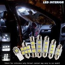 6pcs Xenon White <b>Car LED Interior Lights</b> Package kit Fit 1995-2004 ...