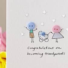 Personalised Button Pram Handmade New Baby Card
