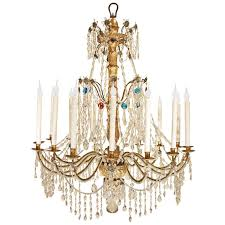 italian 18th century color and clear glass genovese chandelier for