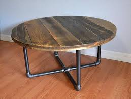 round wood coffee table with metal legs collection diy pallet round coffee table plans round