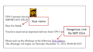 ups customer service fake ups email downloads a virus