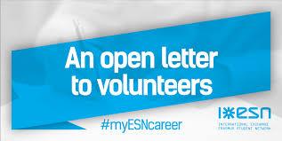 letter for volunteers an open letter to volunteers erasmus student network