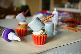 Marvel Avengers Party Idea Thor Hammer Cupcake Tutorial