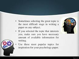 steps to writing good psychology paper topics psychology research paper topics college mouse