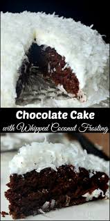 Chocolate Cake With Whipped Coconut Frosting Will Cook For Smiles
