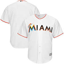 Majestic Replica Jersey Size Chart Vf Miami Marlins Mlb Mens Majestic Cool Base Replica Jersey White Big Tall Sizes