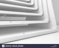 Curved Architecture White Abstract Modern Architecture Background Curved Frames Stock