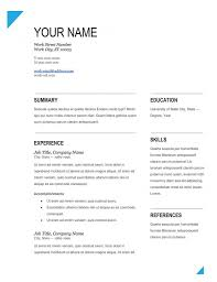 Download Free Resume Templates Simple Resume Template Free Samples