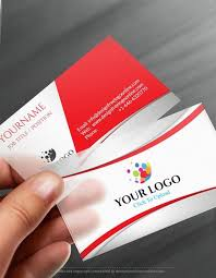 Online Business Card Maker App 3d Red Business Card